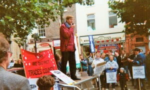 Signalworkers rally 1994. Photo Brian Clark